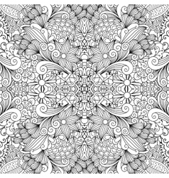 Seamless background textile with floral shapes vector