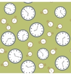 Seamless pattern with watches 568 vector image