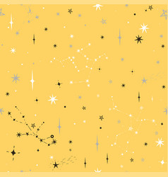 seamless yellow pattern with black gray and white vector image