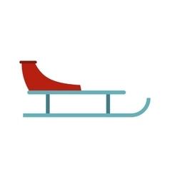 Sleigh icon flat style vector