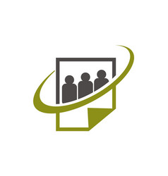 Social paper logo design template vector