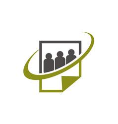 social paper logo design template vector image