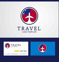 Travel samoa creative circle flag logo and vector