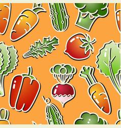 Vegetable isolated on orange background vector