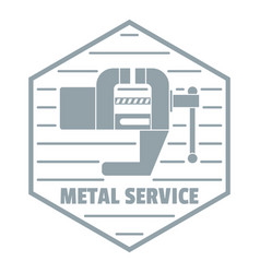 Vise logo vintage style vector