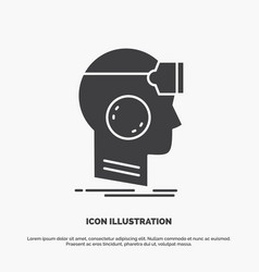 Vr googles headset reality virtual icon glyph vector