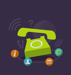 wake phone vector image