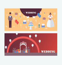 wedding invitation banners vector image