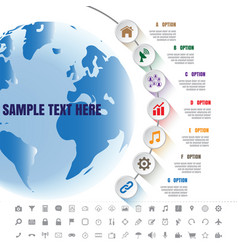 white modern infographic complement time line vector image