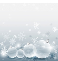 Christmas ball with decorated snowflake silver vector image vector image