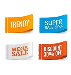 Clothes Fabric Sale Labels Set vector image vector image