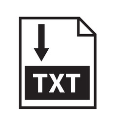 download text icon on white background download vector image vector image