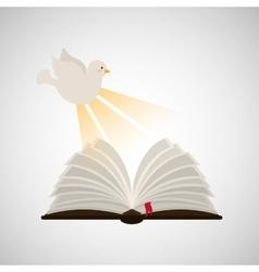 Holy spirit open bible icon religion design vector