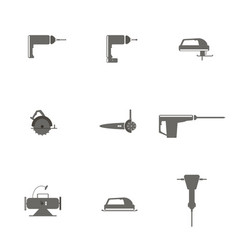 icons of electric tools vector image