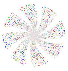 mail envelope fireworks swirl flower vector image vector image