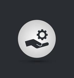 mechanic gear service hand icon vector image