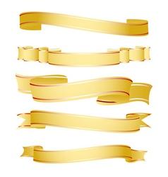 shapes of ribbon vector image vector image