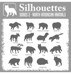 Silhouettes - north american animals vector