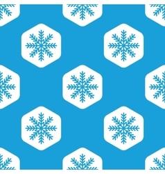 Snowflake hexagon pattern vector image vector image