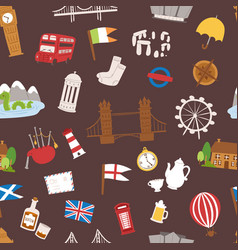 united kingdom great britain travel tourism vector image vector image