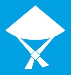 vietnamese hat icon white vector image
