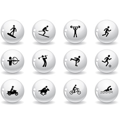 Web buttons games and sport icons vector image vector image
