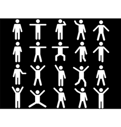 White human pictograms vector image vector image