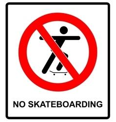 a no skateboarding allowed vector image vector image