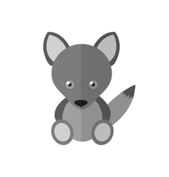a wolf vector image
