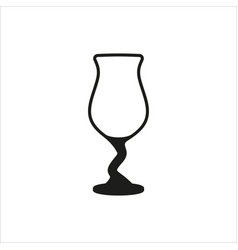 cocktail glass icon in simple monochrome style vector image vector image