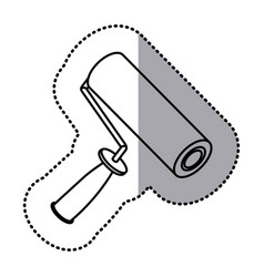 figure paint roller icon vector image vector image