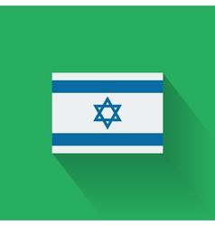 Flat flag of Israel vector image vector image