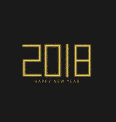 golden numbers 2018 vector image vector image