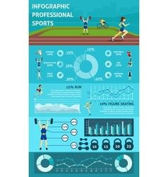 Infographic People Sport vector image