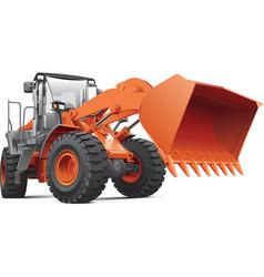Orange front end loader vector image vector image
