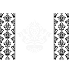black and white vintage background vector image vector image