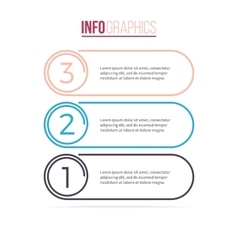 Business infographics List with 3 options vector image