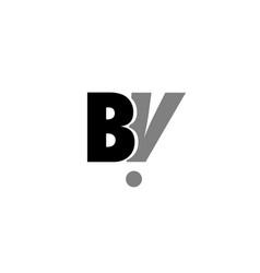 bv b v black white grey alphabet letter logo icon vector image