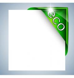 eco label tag vector image