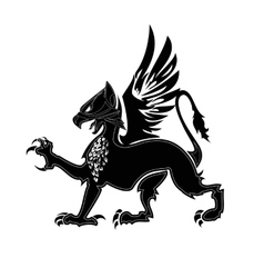 Griffin heraldry 2 vector image