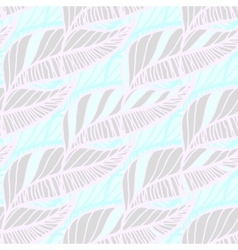 Hand Drawn Feather Seamless Background vector image