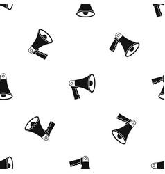 loudspeaker pattern seamless black vector image