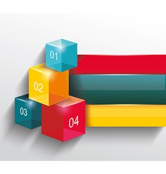numbered banners infographic or web design vector image vector image