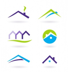 Real estate logo and icons vector