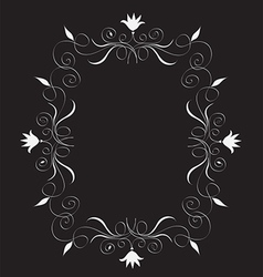 Abstract floral frame Free vector image vector image