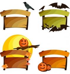 Halloween signs vector image