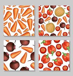 vegetables pattern set vector image vector image