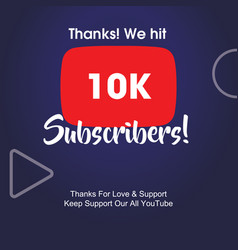 10k subscribers vector