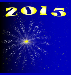 2015 new year firework vector image