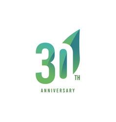 30 th anniversary logo template design vector